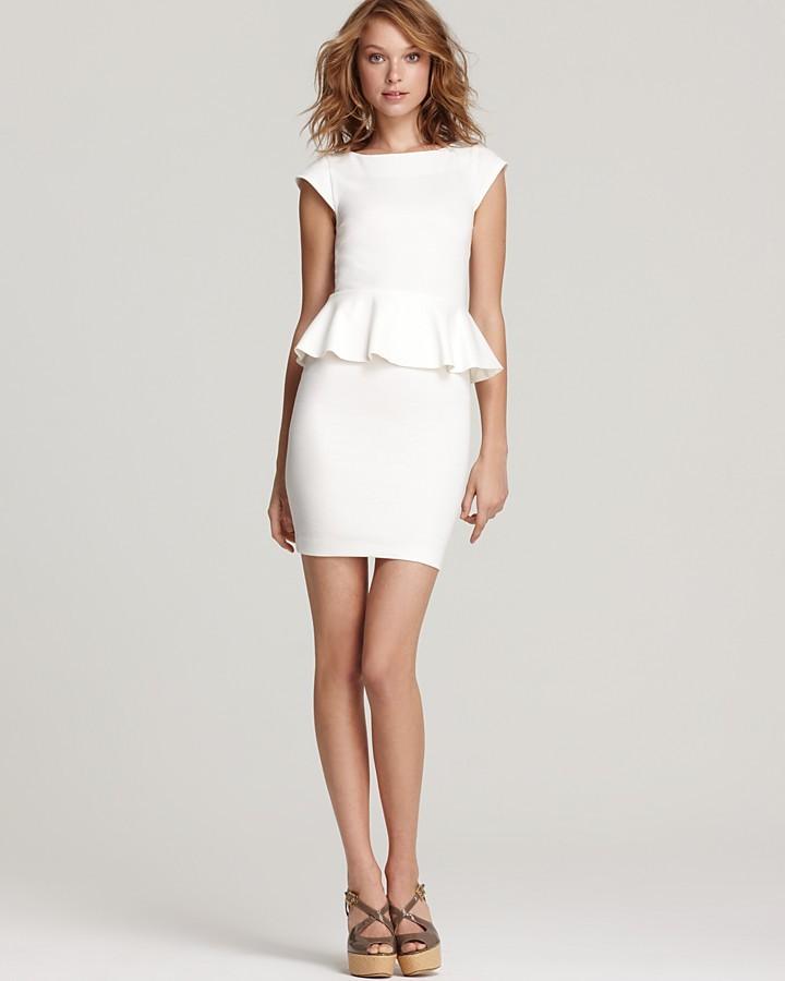 Alice + Olivia Dress - Victoria Short Sleeve Peplum