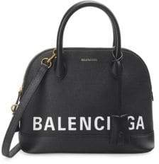 Balenciaga Ville Top Handle Logo Shoulder Bag