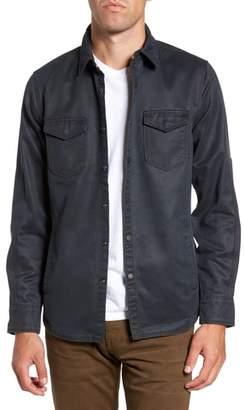Jeremiah 'Colt' Regular Fit Sueded Cotton Blend Shirt Jacket