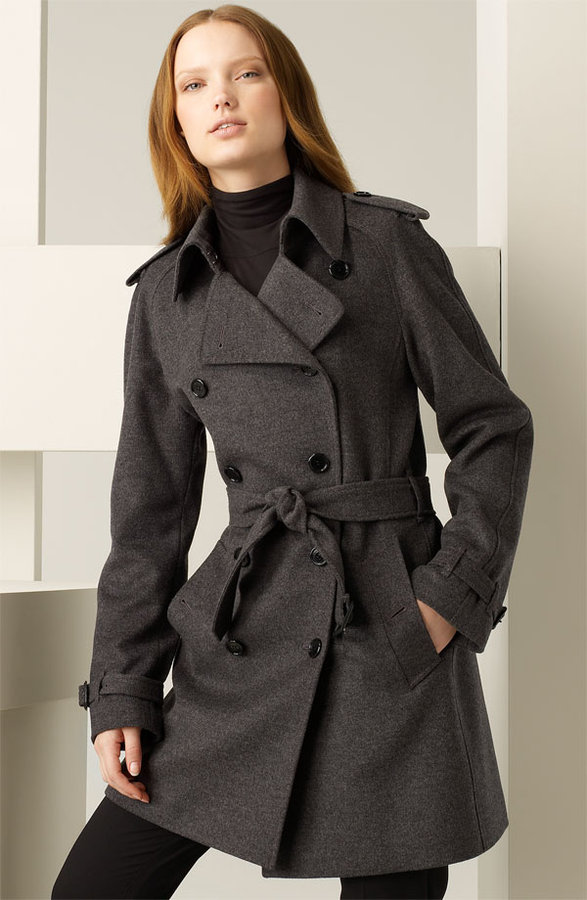 Burberry Belted Wool & Cashmere Trench