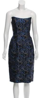 Chris Benz Strapless Knee-Length Dress