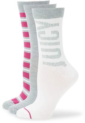 Juicy Couture 3-Pack Assorted Crew Socks