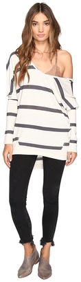 Free People - Upstate Stripe Tee Women's T Shirt $68 thestylecure.com