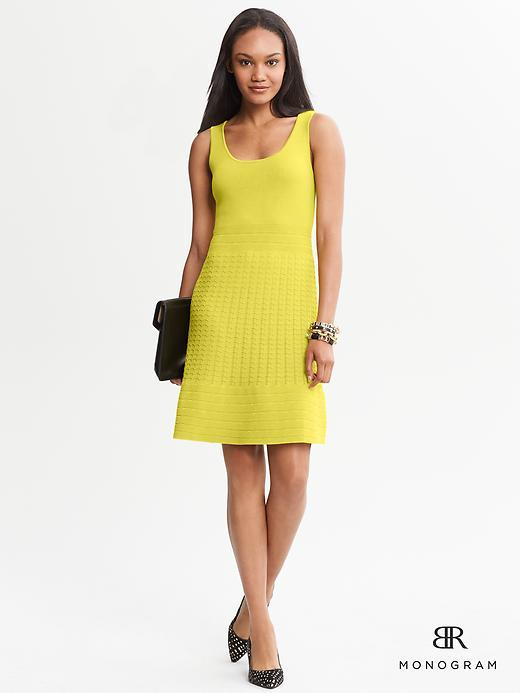 Banana Republic BR Monogram Fit and Flare Pointelle Dress