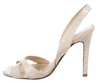 Alexandre Birman Python Slingback Sandals