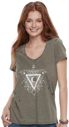 Grayson Threads Juniors' Celestial Triangle Destructed Tee