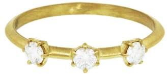 Jade Trau Triple Diamond Kismet Ring - Yellow Gold