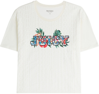 Juicy Couture Embroidered T-Shirt $105 thestylecure.com