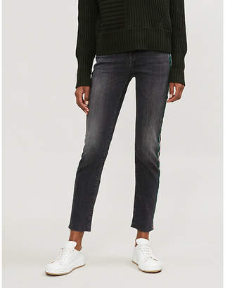 7 For All Mankind Relaxed Skinny mid-rise faded skinny jeans