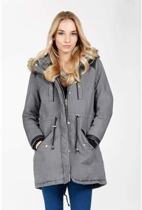Grey Parka Coat - ShopStyle UK