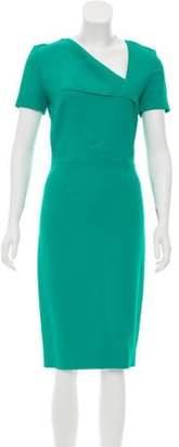 Roland Mouret Short Sleeve Midi Dress Green Short Sleeve Midi Dress