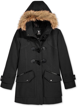 S. Rothschild Girls' Faux-Wool Toggle Duffle Coat with Faux-Fur Trim $89.98 thestylecure.com
