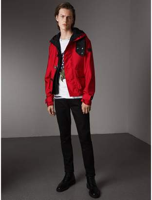 Burberry Nylon Canvas Deck Jacket with Detachable Warmer