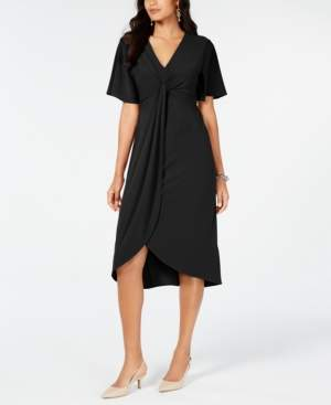 Alfani Twist-Front High-Low Hem Dress, Created for Macy's
