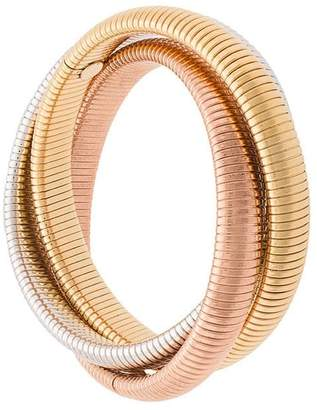Janis Savitt set of three ribbed bangles