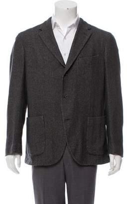 Boglioli Wool-Blend Woven Blazer