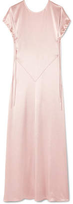Cédric Charlier Open-back Satin Gown - Blush
