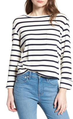Bishop + Young BISHOP AND YOUNG Stripe Lace-Up Back Top