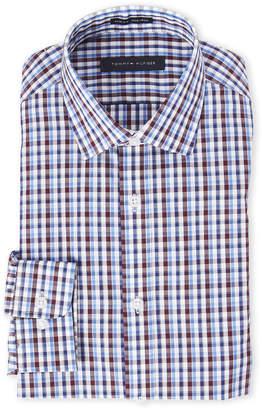 Tommy Hilfiger Blue & Cognac Plaid Slim Fit Shirt
