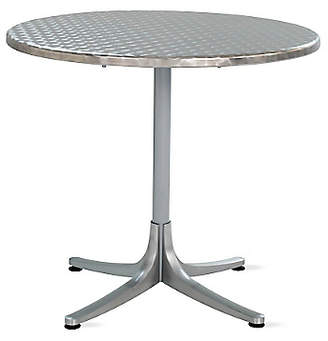 Design Within Reach Inox Table, Round, Silver