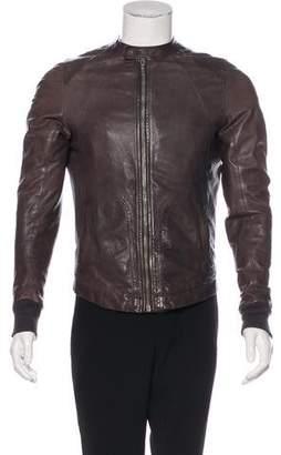 Rick Owens Lambskin Cropped Jacket