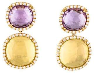 Marco Bicego 18K Multistone Jaipur Drop Earrings