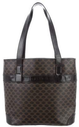 Celine Leather-Trimmed Monogram Shoulder Bag 8115469ba1e08