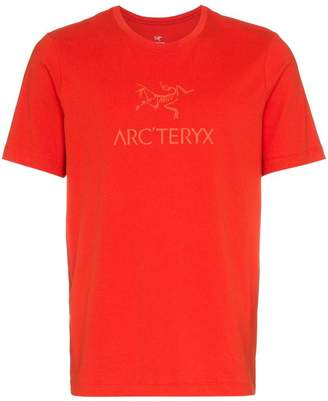 Arc'teryx Red logo printed crew neck cotton t-shirt