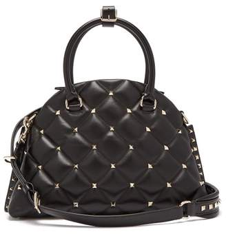 Valentino Candystud Quilted Leather Dome Bag - Womens - Black