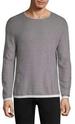 Theory Cotton Jacquard Crewneck Sweater