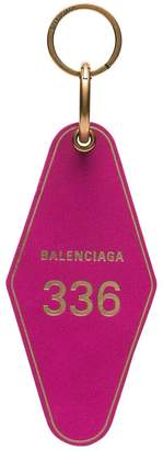 Balenciaga hot pink diamond shaped keyring