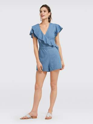 Draper James Chambray Flutter Romper