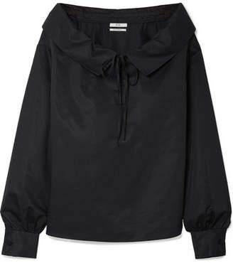 Co Cotton-poplin Blouse - Black