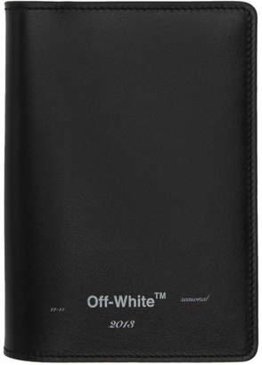 Off-White Off White Black Logo Passport Holder