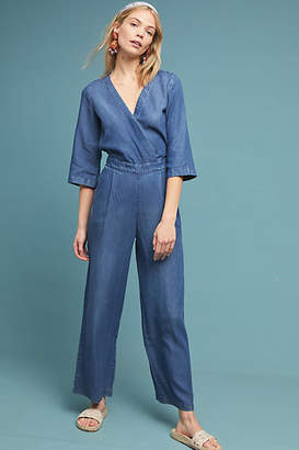 e878d1c8740 Anthropologie Kachel x Surplice Chambray Jumpsuit
