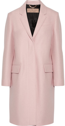 Burberry - Alphington Wool-felt Coat - Pastel pink $1,595 thestylecure.com