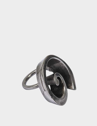 Acne Studios Endao Ring in Antique Silver Brass