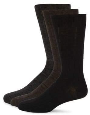 Three-Pack Wool Socks