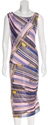 Chanel Printed Midi Dress