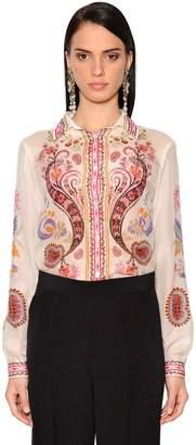 Etro Printed Silk & Cotton Voile Shirt