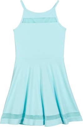 Sally Miller The Tiffany Techno Crepe Dress w\/ Mesh Inset Trim Size S-XL
