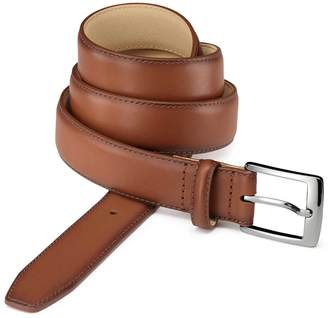 Charles Tyrwhitt Dark Tan Leather Dress Belt Size 34-36