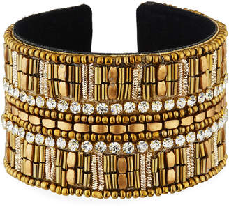 Panacea Large Crystal Beaded Cuff Bracelet