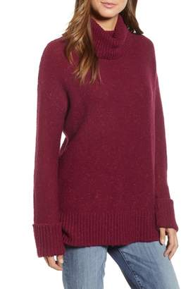 Caslon Roll Neck Cotton Wool Blend Sweater