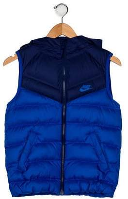 Nike Boys' Hooded Puff Vest