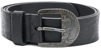 Diesel engraved antique buckle belt