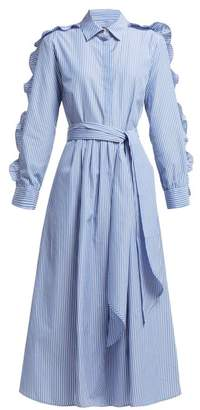 Max Mara Canon Dress - Womens - Blue Stripe