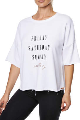 Betsey Johnson Weekend Repetez Boxy Top