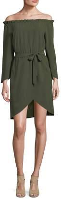 Ali & Jay Women's Belted Off-the-Shoulder Dress