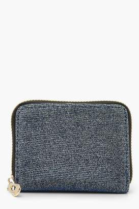 boohoo Sparkle Mini Ziparound Purse